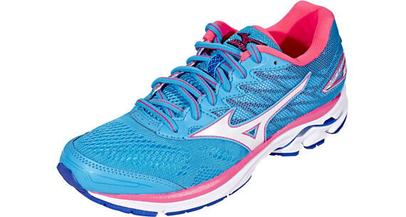Mizuno Wave Rider 20 Running Shoes Women Atomic Blue/White/Diva Pink
